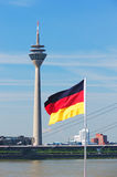 Rheinturm tower Dusseldorf Royalty Free Stock Photo