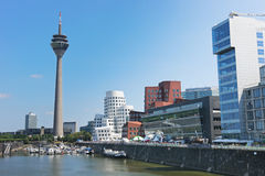 Rheinturm tower Dusseldorf Stock Image