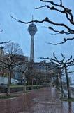 Rheinturm tower Dusseldorf Royalty Free Stock Photography