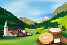 Rhemes Notre Dame. Alpine village in the Aosta Valley, Italy Royalty Free Stock Image