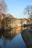 Rhen av Strasbourg reflexioner Arkivbilder