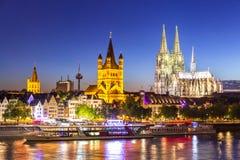 Rhen för Cologne domkyrkaflod royaltyfri bild