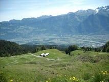 Rhendal i St Gallen, Schweiz Arkivbilder