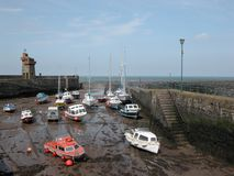Rhenish Tower and harbour at Lynmouth Stock Photos