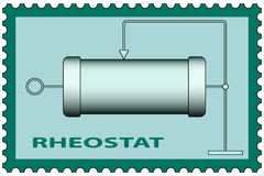 Rheostat on stamp Royalty Free Stock Photography