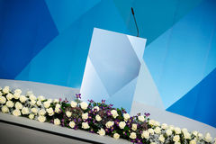 Rhetorical stage, speakers podium Royalty Free Stock Image