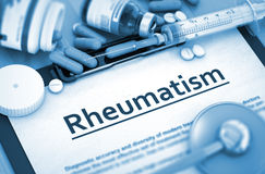 Rheumatism Diagnosis. Medical Concept. Rheumatism Diagnosis, Medical Concept. Composition of Medicaments. Rheumatism - Medical Report with Composition of Royalty Free Stock Photography