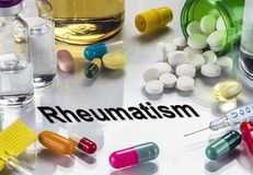Rheumatism. Medicines As Concept Of Ordinary Treatment. Conceptual Image stock images