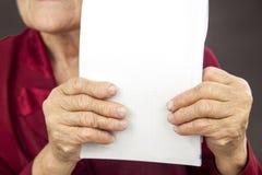 Rheumatoid arthritis hands. Copy space Royalty Free Stock Image
