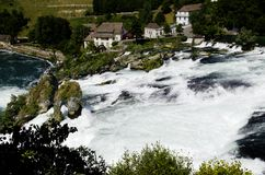 Rhina Falls in Switzerland. The view  of the Rhina falls in Switzerland Stock Image