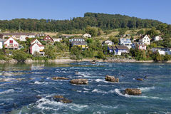 Rhine above the Rhine Falls Royalty Free Stock Photo