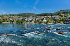 Rhine above the Rhine Falls Royalty Free Stock Photos