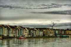 Rhine In Basel HDR Royalty Free Stock Photo