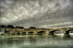 Rhine In Basel HDR Stock Photo