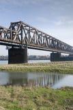 Rhine bridge detail. A rhine bridge detail in the morning sun Royalty Free Stock Photos