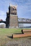 Rhine bridge detail. A rhine bridge detail in the morning sun Royalty Free Stock Images