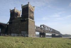Rhine bridge detail. A rhine bridge detail in the morning sun Stock Photography