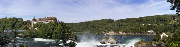 Rhine fall valley, Switzerland  - the biggest waterfall in Europe Stock Photography
