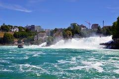 Rhine Falls в Schaffhausen, Швейцарии Стоковые Фото