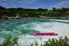 Rhine Falls в Schaffhausen, Швейцарии Стоковое Фото