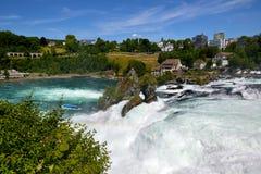 Rhine Falls в Schaffhausen, Швейцарии Стоковая Фотография