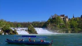 Rhine Falls на Schaffhausen, Швейцарии видеоматериал