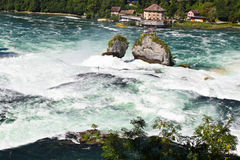 Rhine Falls. The largest waterfall in Europe Stock Photo