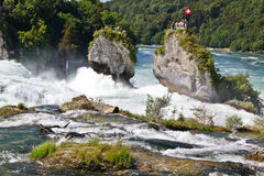 Rhine Falls. The largest waterfall in Europe located at Schaffhausen, Switzerland Royalty Free Stock Image