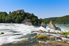 Rhine Falls. The largest waterfall in Europe Royalty Free Stock Photography