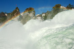Rhine Falls. Mighty Rhine Falls (largest falls in Europe) at Schaffhausen in Switzerland Stock Photos