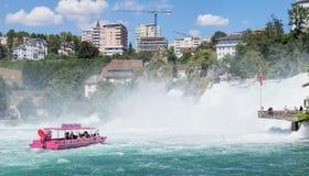 Rhine Falls Arkivfoton