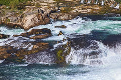 Rhine Falls close-up Stock Images