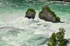 Rhine Falls e isla Fotos de archivo libres de regalías