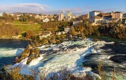 Rhine Falls en Schaffhausen, Suiza fotografía de archivo