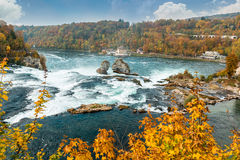 Rhine Falls are Europe's largest waterfall. Royalty Free Stock Image