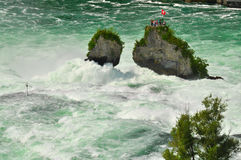 Rhine falls and isle Royalty Free Stock Photos