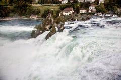 Rhine Falls - la cascada más grande en Europa, Schaffhausen, Suiza Fotografía de archivo libre de regalías