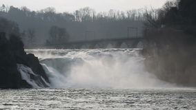Rhine Falls stock footage