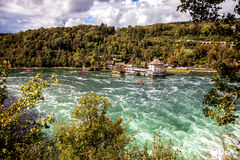 Rhine Falls - largest waterfall in Europe, Schaffhausen, Switzerland Royalty Free Stock Images