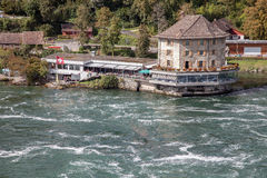 Rhine Falls - largest waterfall in Europe, Schaffhausen, Switzerland Stock Photos
