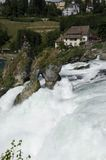Rhine Falls. The falls are located on the Upper Rhine between the municipalities of Neuhausen am Rheinfall and Laufen-Uhwiesen, near the town of Schaffhausen in Royalty Free Stock Photos