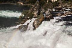 Rhine Falls in Neuhausen am Rheinfall. Switzerland Stock Image