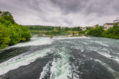The Rhine Falls in Neuhausen am Rheinfall, Schaffhausen, Switzer Stock Photo
