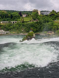 The Rhine Falls in Neuhausen am Rheinfall, Schaffhausen, Switzer Royalty Free Stock Photography