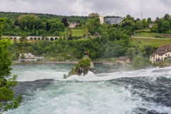 The Rhine Falls in Neuhausen am Rheinfall, Schaffhausen, Switzer Stock Image
