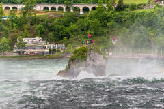 Rhine Falls in Neuhausen am Rheinfall, Schaffhausen, Switzerland Stock Photos