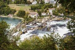 Rhine Falls in Neuhausen am Rheinfall. Switzerland Royalty Free Stock Photo