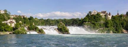 Rhine Falls, Neuhausen, Switzerland. Rhine Falls is the largest plain waterfalls in Europe Stock Photography