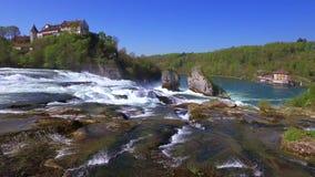 Rhine Falls p? Schaffhausen, Schweiz arkivfilmer