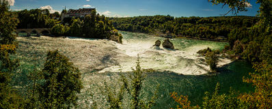 Rhine Falls Panorama Royalty Free Stock Photography